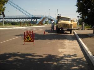 Провалля біля пішохідного мосту ліквідовано