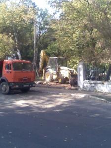 Демонтаж зупинки (міський парк)