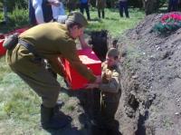 На Ізюмщині перепоховано  радянських воїнів,  загиблих в роки Великої Вітчизняної війни