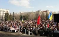 В Славянске прошел многотысячный митинг протеста