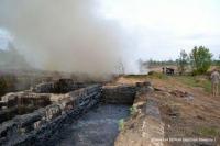 Неосторожное обращение с огнём привело к пожару на смоляном хранилище в Изюме