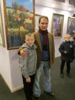 Юные изюмские гимназисты встретились с художником Виталием Жердевым