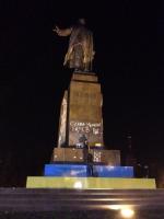 У центрі Харкова розмалювали пам'ятник Леніну