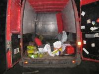 Біля Ізюма міліціонери виявили мікроавтобус зі значним арсеналом різного виду боєприпасів