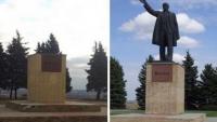 В Купянске на центральной площади снесли памятник Ленину