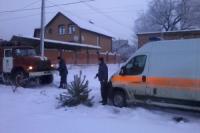 Автобус Изюм-Купянск застрял в снегу