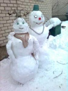 Сніговик, сніговик, на морозі жити звик