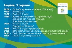 Рио-2016: Расписание соревнований и трансляций на сегодня