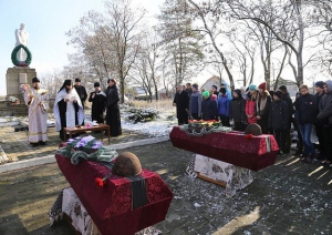 На Изюмщине перезахоронили  солдат Великой Отечественной войны