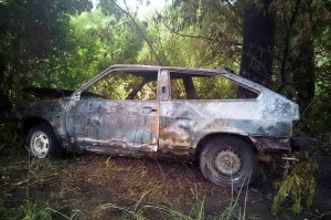 В Ізюмі під час руху загорівся автомобіль