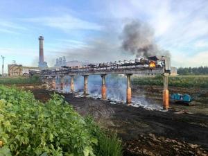У  Савинцях пожежа на цукровому заводі