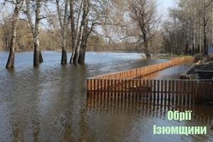 В Ізюмі річка Сіверський Донець вийшла з берегів